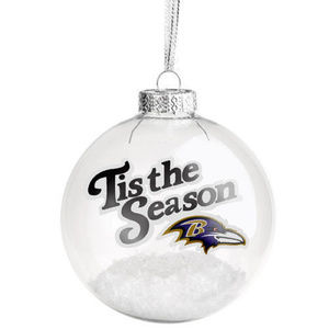 Baltimore Ravens NFL Team Logo Glass Ornament